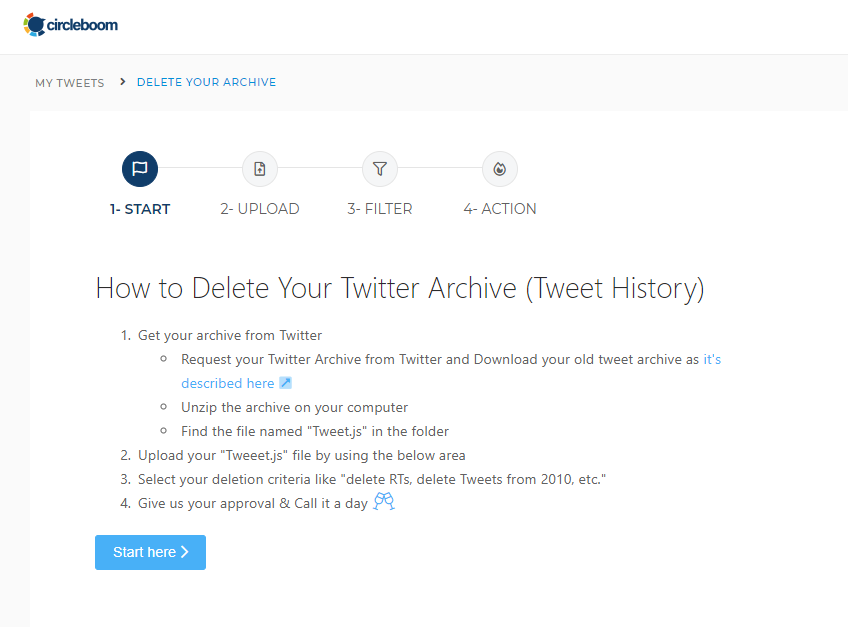 how to delete Twitter history