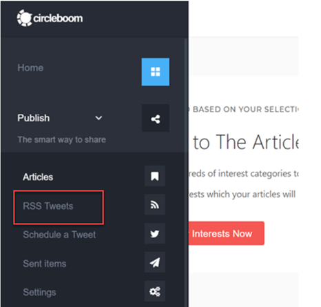 Circleboom enables you to post RSS to Twitter