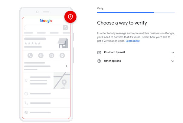 Google My Business verification is initial step of GMB optimization
