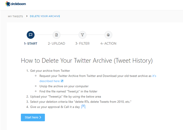 Delete tweets in bulk to save time and avoid the stress of handling them one at a time.