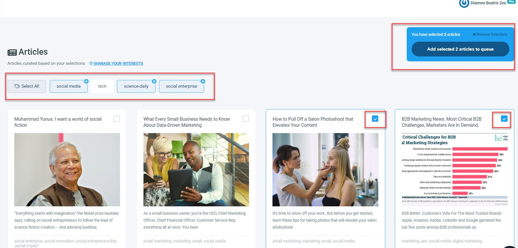 Finding content and auto posting them have never been that easy!