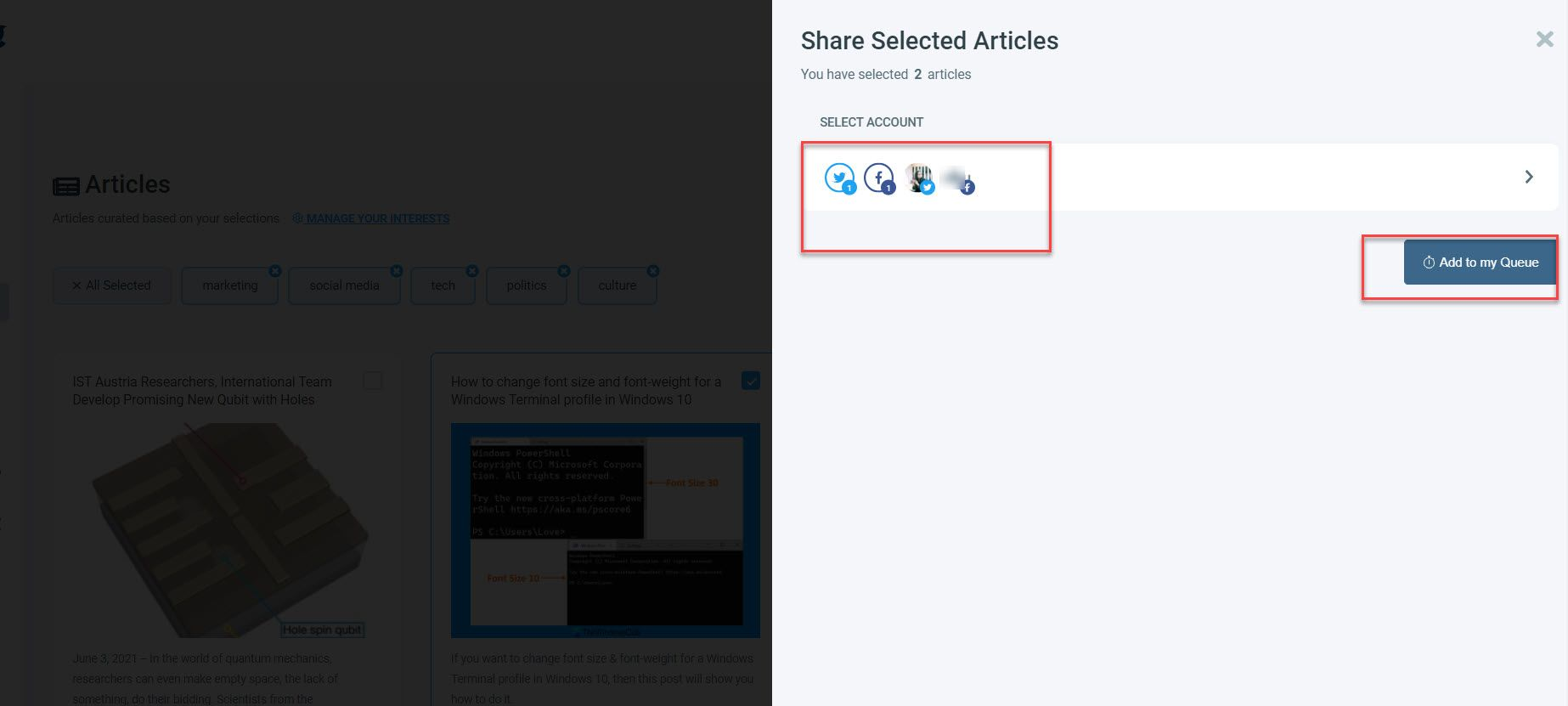 You can go for scheduling posts on Twitter and Facebook for multiple accounts and even group those multiple accounts to rather then selecting them each time.