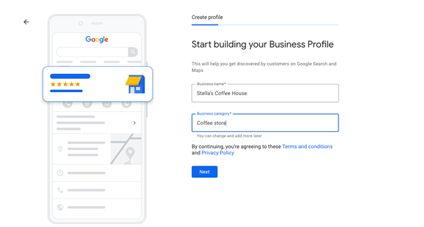 You only need to have a Google account or create a Google Account for free for Google My Business set up.