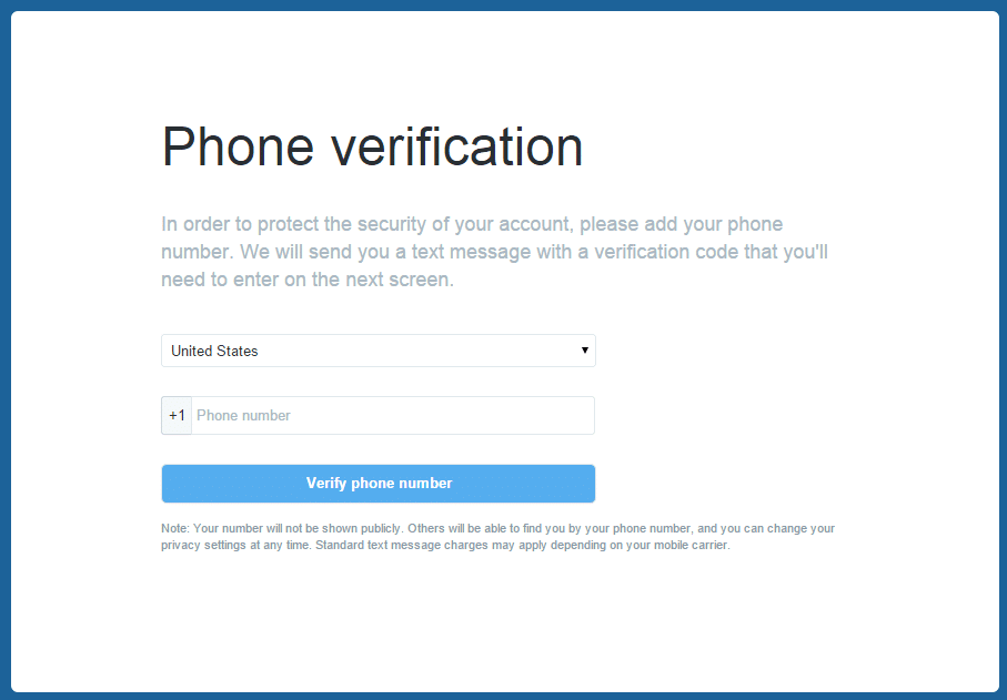 Bypass Twitter Phone Verification if I Lost my Phone Number
