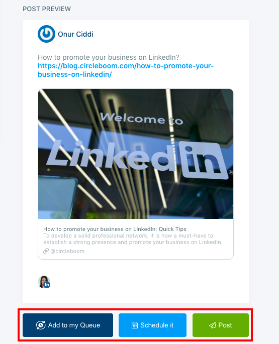 With Circleboom Publish, you can schedule posts on LinkedIn for a future date.