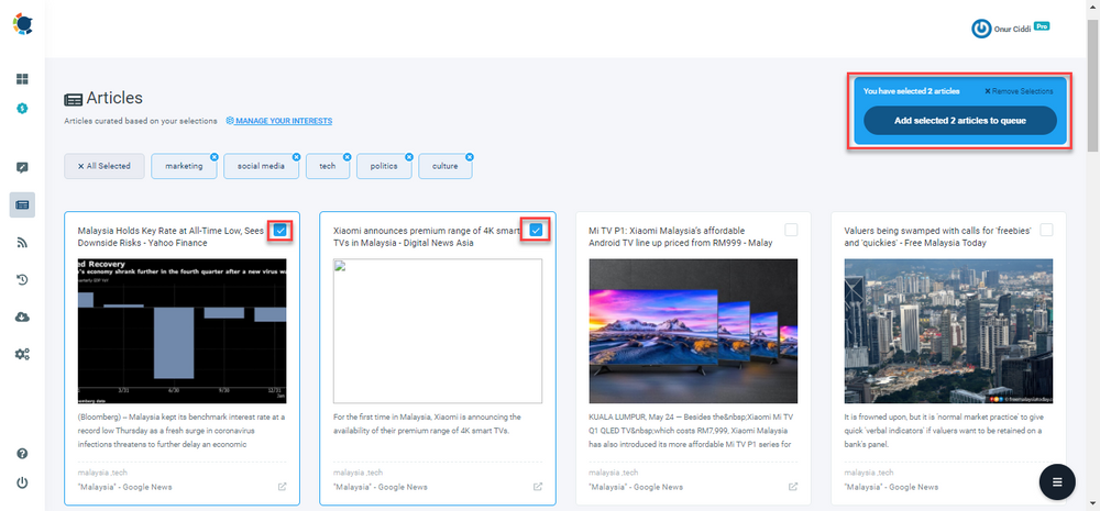 With Circleboom Publish, it gets much easier to find relevant content for your LinkedIn accounts.