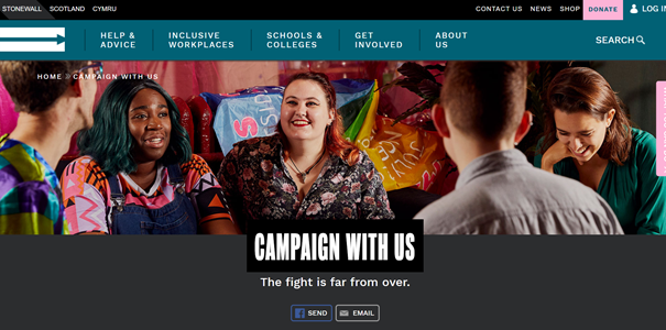 Stonewall Foundation collaborates with supporters and contributors to establish different campaigns