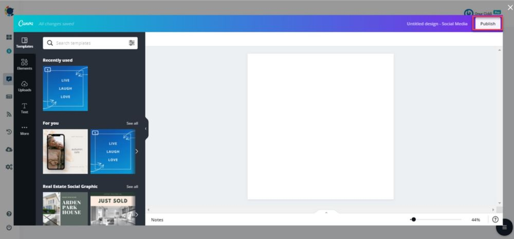 Add images and edit them using Circleboom Publish's built-in Canva API!