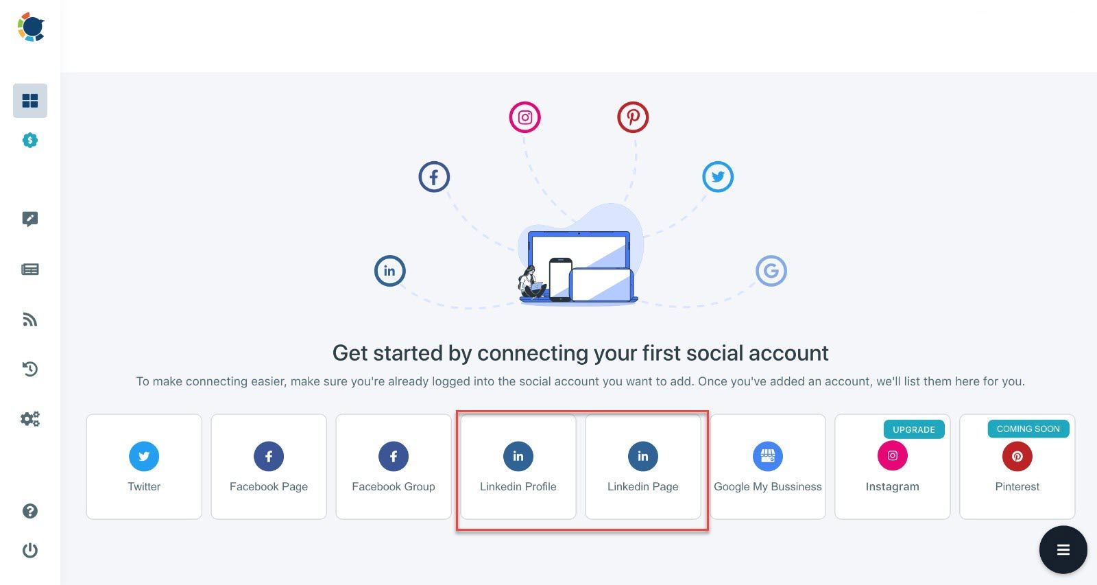 With Circleboom, you can manage multiple LinkedIn accounts and schedule LinkedIn posts.