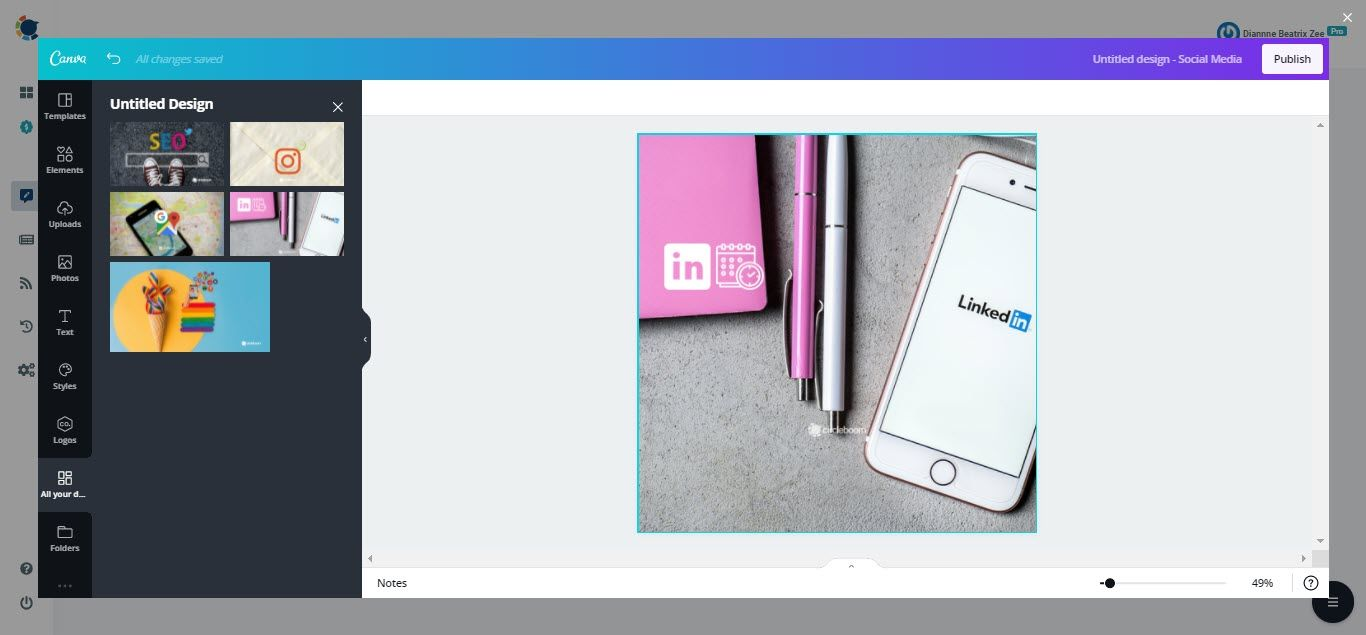 On Circleboom Publish, Canva's graphic features for images and videos can help you improve your content.
