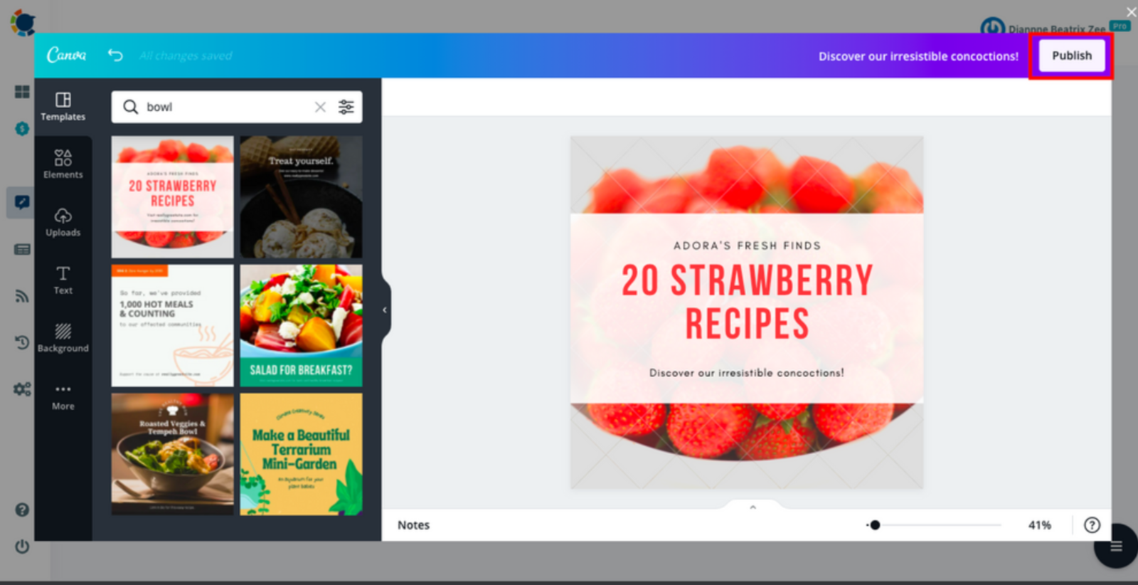 Prepare a cover page for your post with ready-made Canva templates and schedule the post