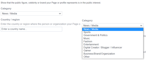 Choose a relevant business category and write the country name