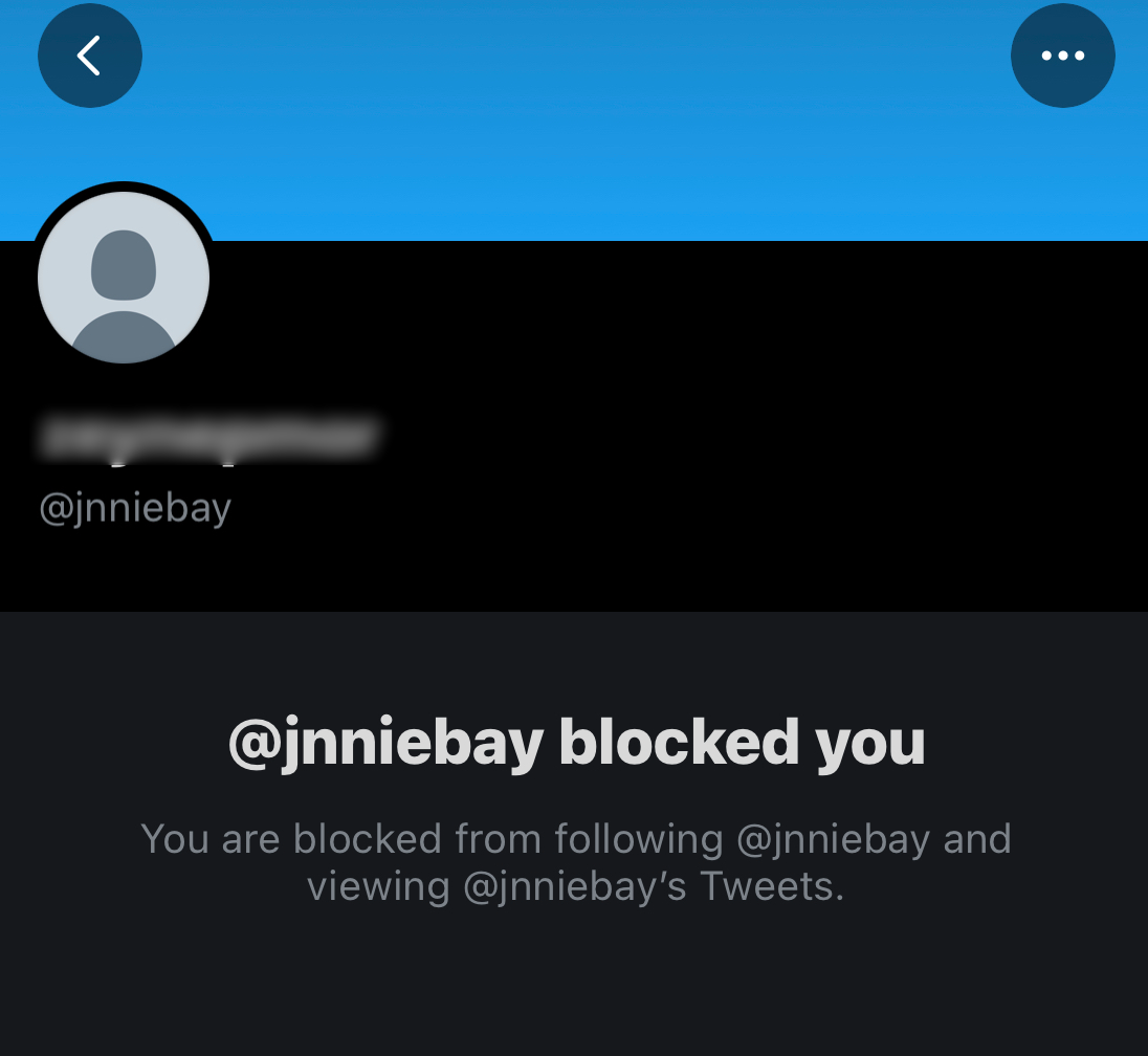 You can see who blocked you on Twitter by checking their profile page.