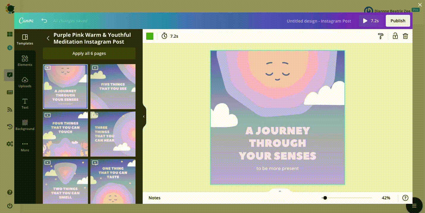 Instagram Tip #4: Enrich your content with Canva