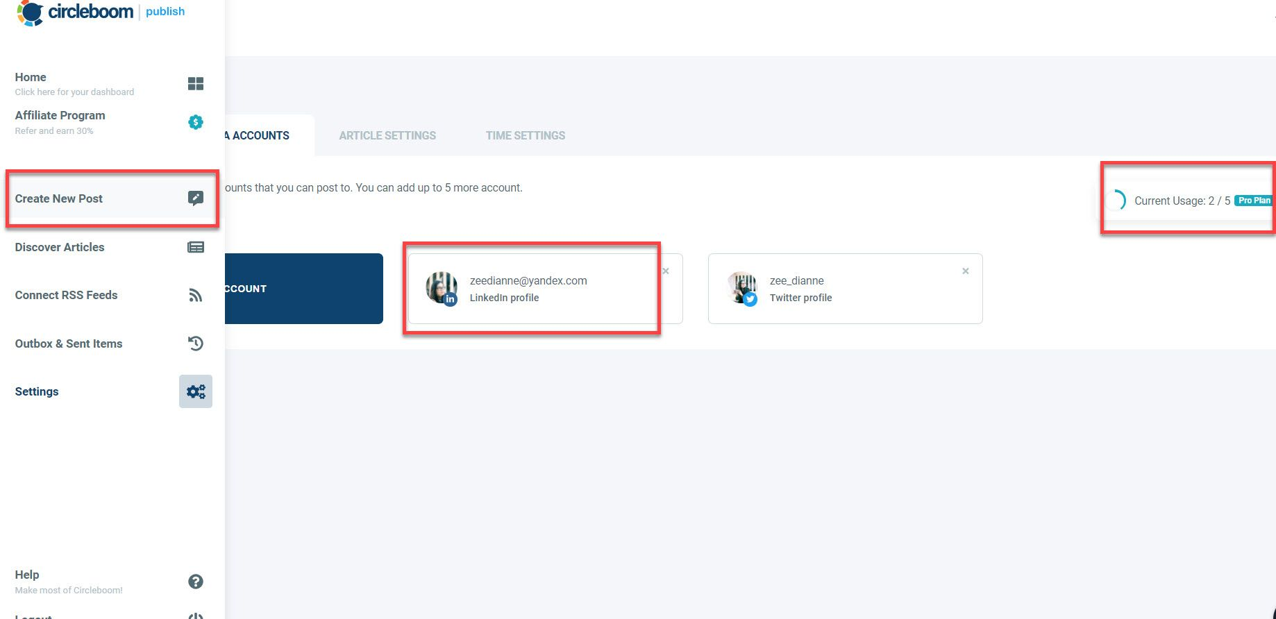 You may make a post for each of your Circleboom Publish-linked account using the Create New Post dashboard.