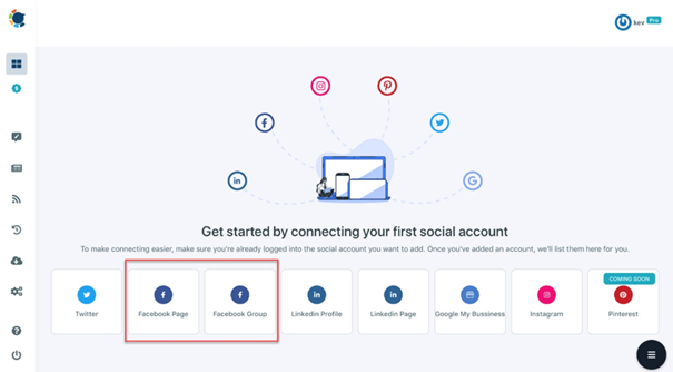 In order to design a Facebook post to Circleboom, sync your Facebook accounts and get going!