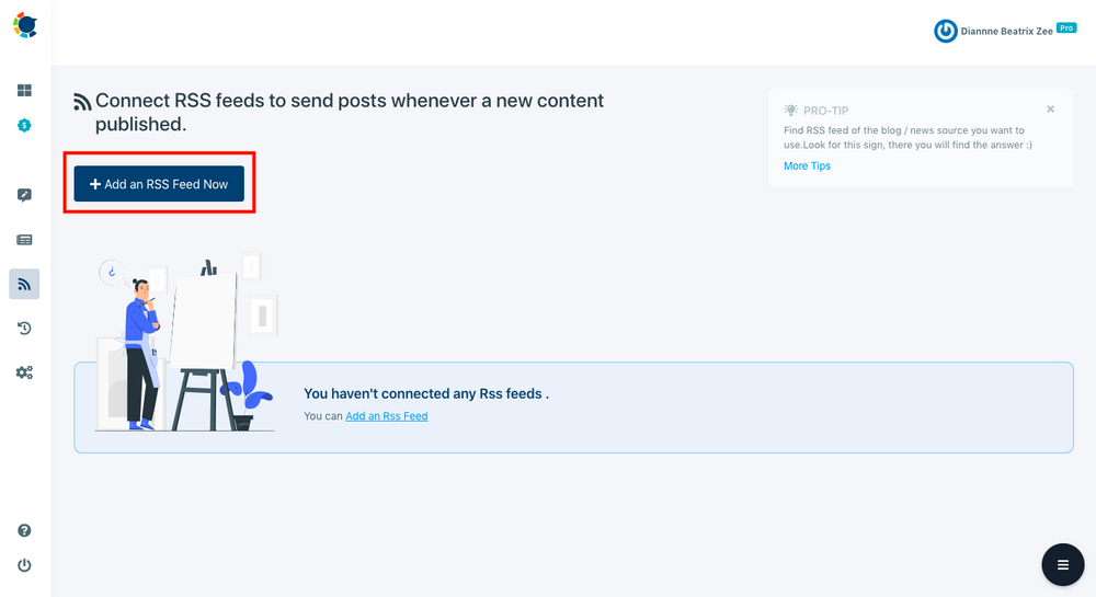 You can easily add RSS feed to LinkedIn with Circleboom Publish to auto-post the new content on the source.