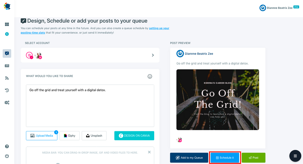 You can schedule your Instagram posts for a future date and time with Circleboom Publish.