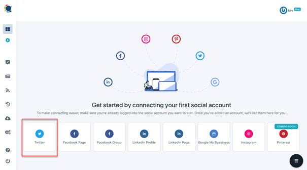Likewise, sync your Twitter account to create and schedule Tweets.