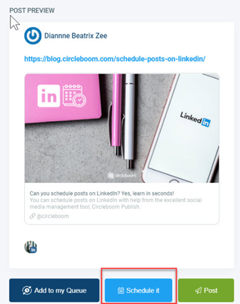 Auto post to Linkedin for later!Auto post to Linkedin for later!