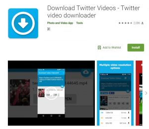 download Twitter videos on  desktop and mobile